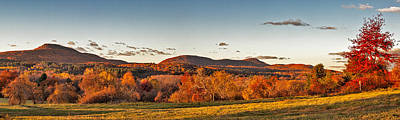 The Holyoke Range In Autumn Color From Mount Pollux. Poster by Stephen Gingold