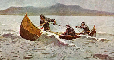 The Howl Of The Weather   Detail 1907 Poster by Frederick Remington