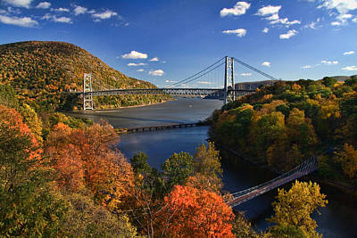 The Hudson River Valley In Autumn Poster by June Marie Sobrito