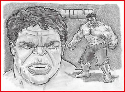 The Hulk Hulk Poster by Chris  DelVecchio
