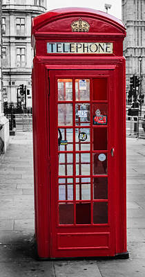 The Iconic London Phonebox Poster by Martin Newman