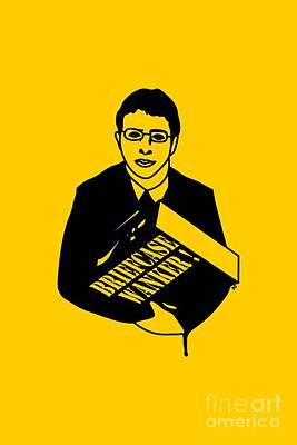 The Inbetweeners Briefcase Wanker Poster by Paul Telling