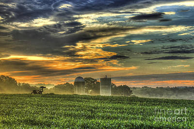 The Iron Horse New Corn Sunrise 2 Poster by Reid Callaway