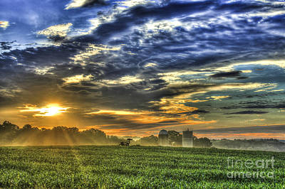 The Iron Horse New Corn Sunrise Poster by Reid Callaway