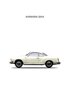 The Karmann Ghia Poster by Mark Rogan