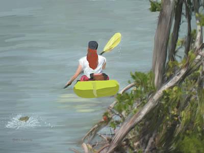 The Kayaker Poster by Rosalie Scanlon