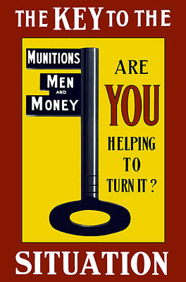The Key To The Situation - Ww1 Poster by War Is Hell Store