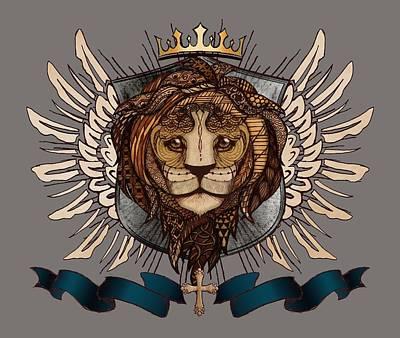 The King's Heraldry II Poster by April Moen