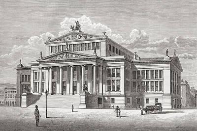 The Konzerthaus Berlin, Gendarmenmarkt Poster by Vintage Design Pics