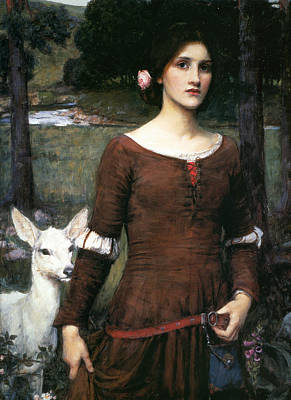 The Lady Clare Poster by John William Waterhouse