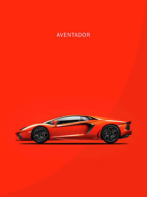 The Lamborghini Aventador Poster by Mark Rogan