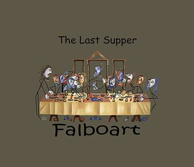 The Last Supper T-shirt By Anthony Falbo Poster by Anthony Falbo