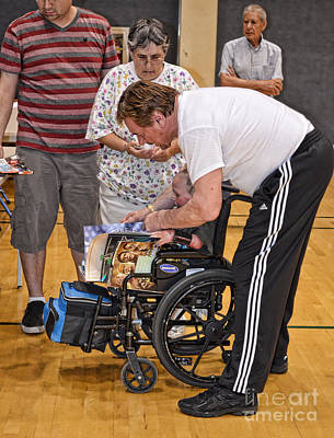 The Late Pro Wrestling Legend Roddy Piper Sharing A Special Moment With A Fan Poster by Jim Fitzpatrick