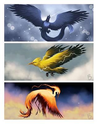 The Legendary Birds Poster by Ryan Kjolberg