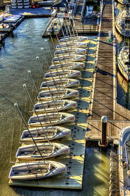 The Line Up Charleston Yacht Club Charleston City Marina South Carolina Poster by Reid Callaway