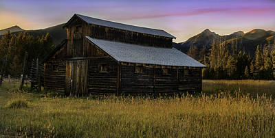 The Little Buckaroo Barn Poster by Thomas Schoeller