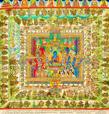 The Mandala Of Medicine Buddha Poster by Lanjee Chee