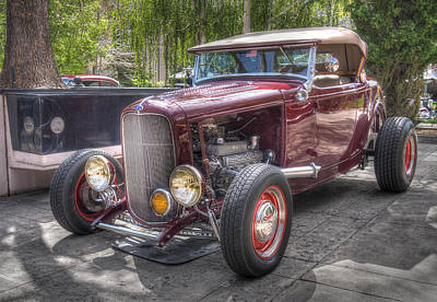The Maroon Ford Hot Rod Poster by Thom Zehrfeld