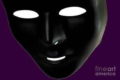 The Mask In Purple Poster by Reynaldo Brigantty
