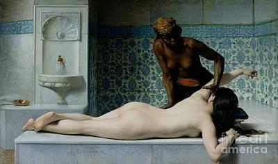 The Massage Poster by Edouard Debat-Ponsan