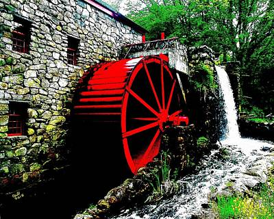 The Mill At The Wayside Inn Poster by Cliff Wilson