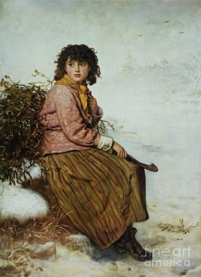 The Mistletoe Gatherer Poster by Sir John Everett Millais