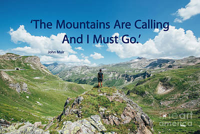 The Mountains Are Calling Poster by Bedros Awak