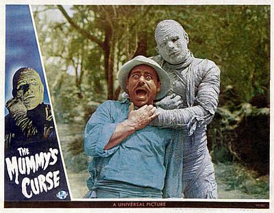 The Mummys Curse, From Left Kurt Katch Poster by Everett