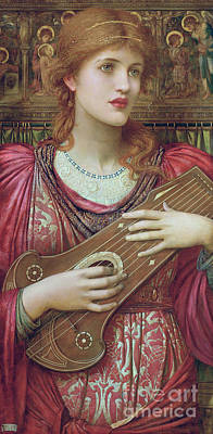 The Music Faintly Falling Dies Away Poster by John Melhuish Strudwick