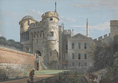The Norman Gate And Deputy Governor's House Poster by Paul Sandby