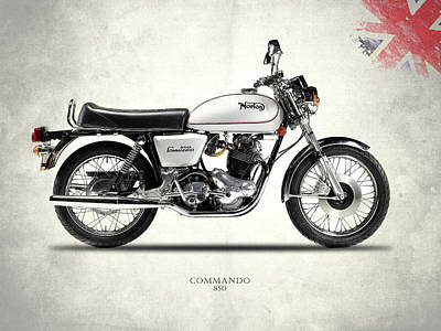 The Norton Commando 850 Poster by Mark Rogan