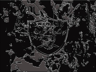 The Oakland Raiders 1b                                    Poster by Brian Reaves