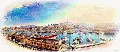 The Old Port Of Marseille 1 Poster by Jean Francois Gil