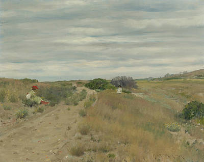 The Old Sand Road Poster by William Merritt Chase