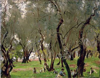 The Olive Grove Poster by John Singer Sargeant