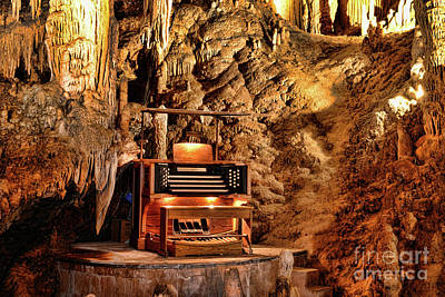 The Organ In Luray Caverns Poster by Paul Ward