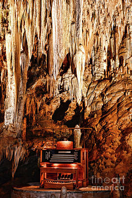 The Organ In The Cavern Poster by Paul Ward