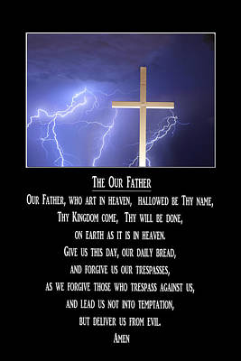 The Our Father Prayer Poster by James BO  Insogna