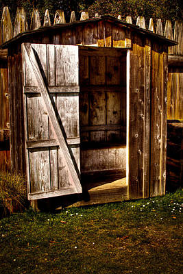 The Outhouse At Fort Nisqually Poster by David Patterson