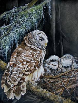 The Owl's Nest Poster by Nonie Wideman