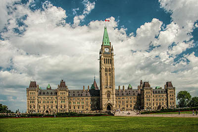The Parliament Building In Ottawa Canada Poster by Randall Nyhof