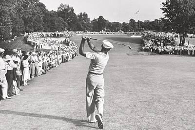 The Perfect Golf Swing Ben Hogan Golf Poster by Peter Nowell