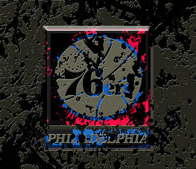 The Philadelphia 76ers 1b Poster by Brian Reaves