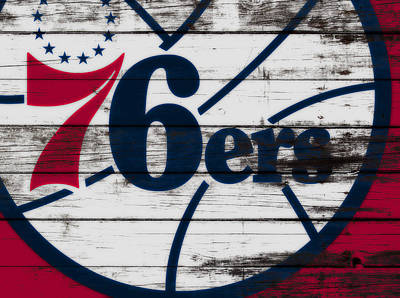 The Philadelphia 76ers 3a        Poster by Brian Reaves