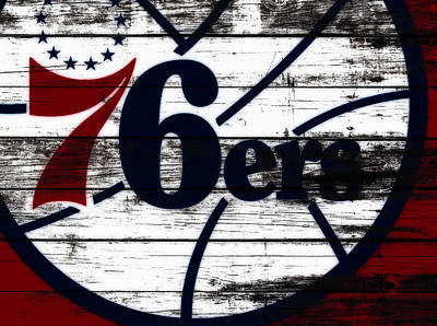 The Philadelphia 76ers 3b        Poster by Brian Reaves