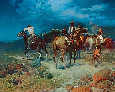The Pony Express Poster by Frank Tenney Johnson