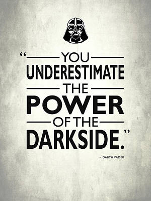 The Power Of The Darkside Poster by Mark Rogan