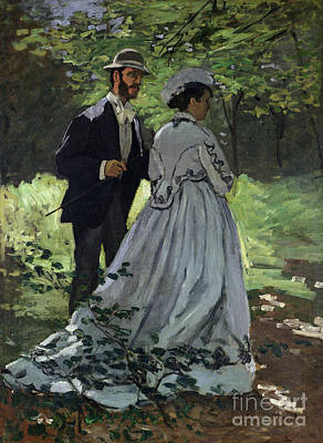 The Promenaders Poster by Claude Monet
