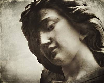 The Protector Saint Michael Archangel Sepia Poster by Melissa Bittinger