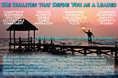 The Qualities That Define You As A Leader  Poster by Celestial Images
